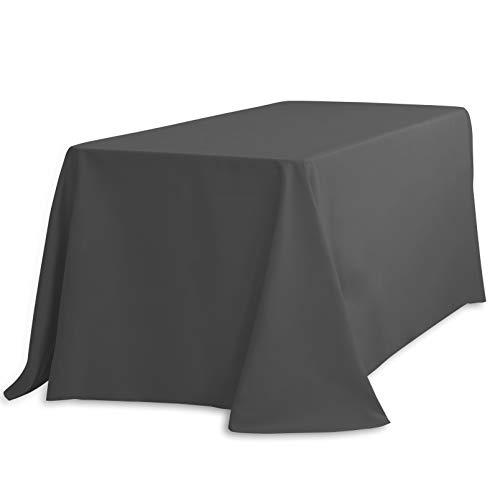 LinenTablecloth 90132-010114 Mantel, Tela, Gris Oscuro, 90