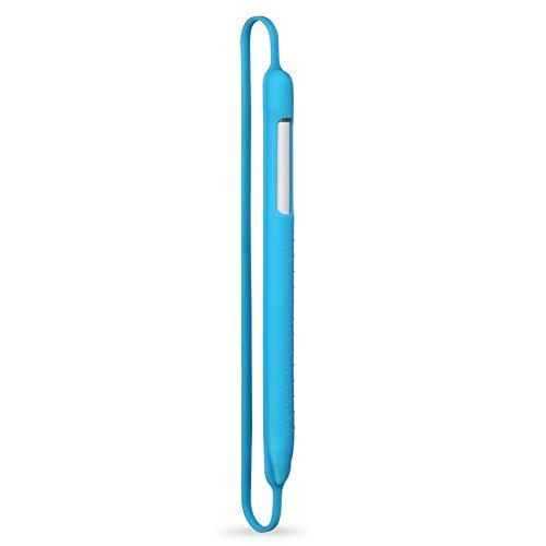 Funda para lápices Universal Stylus portátil Accesorios Funda protectora Funda para bolígrafo Touch Pen Antigolpes Tableta para prevención arañazos Soporte silicona suave para Apple Pencil(Azul)