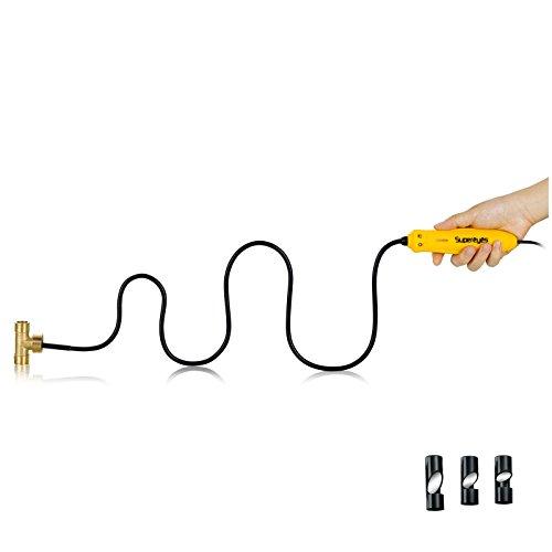 Supereyes N013J - waterdichte 7 mm Ø 100-voudig vergrote USB zwanenhals endoscoop met spiegels voor zijdelingse weergave