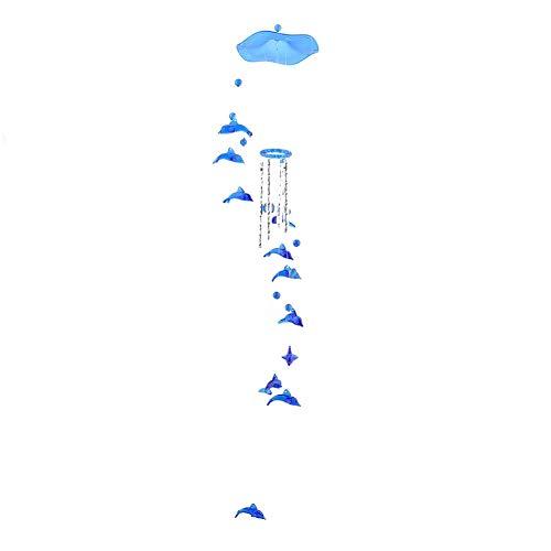 Windspiel mit Delfin-Anhänger, Metallrohr, hängende Ornamente, Musikspielzeug, Heimdekoration
