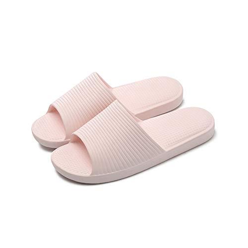 HOUSEHOLD Zapatillas de Interior, de Espuma de Memoria lavab Bath Antideslizante Masaje Suave Cubierta Inferior casero Sandalias y Zapatillas de Las Mujeres (Size : S)