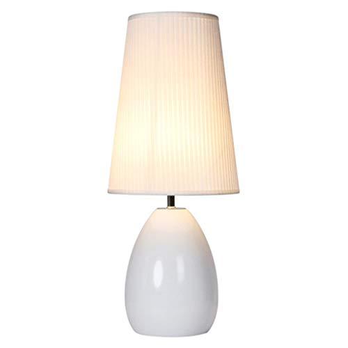 Lámparas de noche Lámpara de estilo nórdico dormitorio Mesita de luz de la lámpara de la sala toque romántico de la lámpara de habitaciones Lámpara de mesa de noche (Color : White)