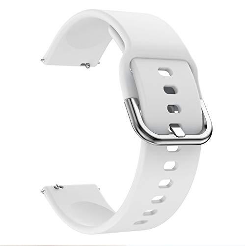 Für Samsung Galaxy Watch Active Silikon Uhrenarmband, Armband Schnellverschluss Ersatzband Mehrfarbig Watch Armband Uhr Ersatzarmbände Uhrenarmbänder Handschlaufe (Weiß)