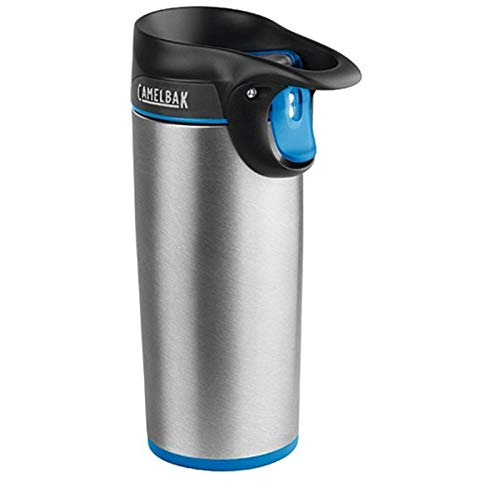 CAMELBAK Thermo Trinkflasche Forge Steel 355 ml, Silber Blau, 57006