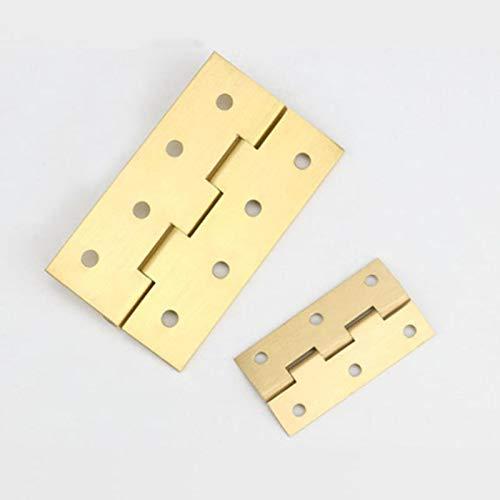 4 uds / bisagra a tope de latón 1/2/3/4 pulgadas armario puerta caja de almacenamiento caja de herramientas Mini conector niture herrajes pequeños accesorios de Metal