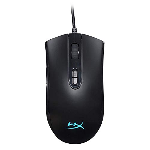 HyperX Pulsefire Core - RGB Gaming Mouse, Software Controlled RGB Light Effects & Macro Customization, Pixart 3327 Sensor up to 6,200DPI, 7 Programmable Buttons, Mouse Weight 87g (Renewed)