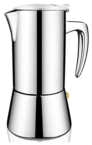 Kuchenka ze stali nierdzewnej Espresso Maker Latte Mokka Narzędzie do kawy do home Office Gas i indukcja ekspres do kawy (Color : Silver, Size : 16x20cm)