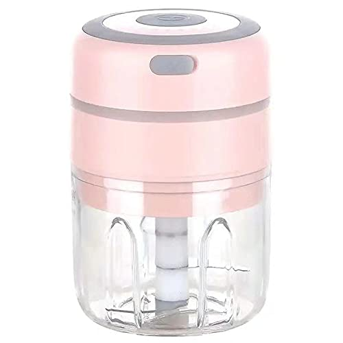 BaoYu Mini triturador de ajo eléctrico picador de ajo, 250 ml de...