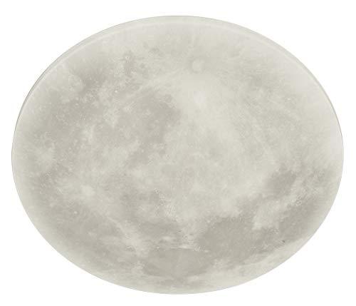 Trio Leuchten LED Deckenleuchte Lunar 627514000, Acryl mit Mondmotiv, Mondphase wechselbar, 1 x 22 Watt LED, Helligkeit einstellbar, Nachtlich Funktion, inkl. Fernbedienung