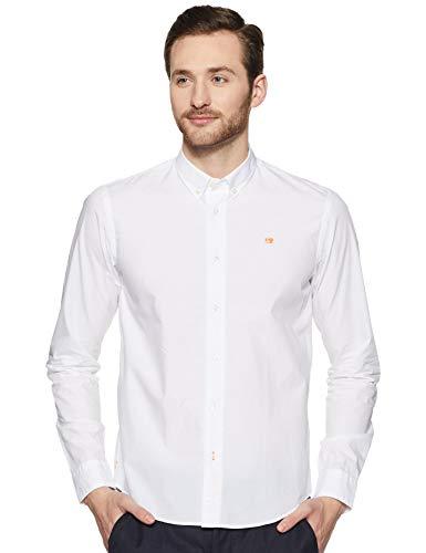 Scotch & Soda Herren Regular FIT-Classic Crispy Shirt Freizeithemd, Weiß (White 0006), Medium (Herstellergröße: M)