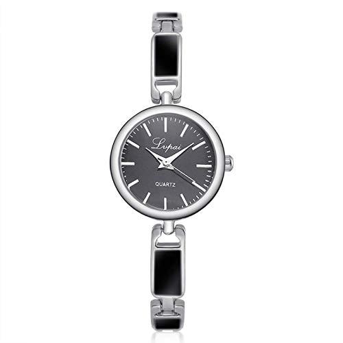 CMXUHUI A la moda y generoso, una buena opción para tu reloj de mujer unisex de acero inoxidable con diamantes de imitación masculino y femenino, reloj de pulsera para hombres y mujeres (color: C)