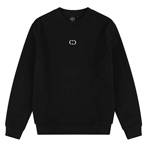Eco Essential Sweatshirt, recycelt. Gr. S, Schwarz