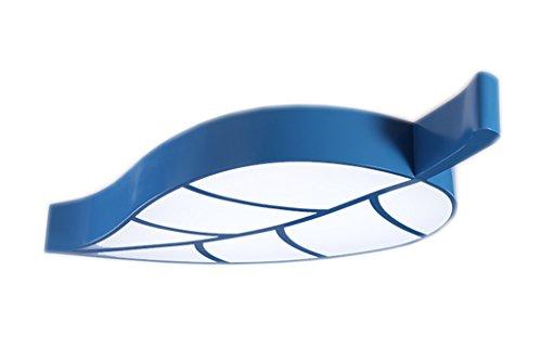 LU Personnalité Feuilles lumières Lumière de chambre d'enfants Lumières de parc d'amusement Lumière de plafond Lumières de mode Lumières Lumières simples Lumières de chambre à coucher Lumières créatives de bande dessinée ( couleur : Bleu )