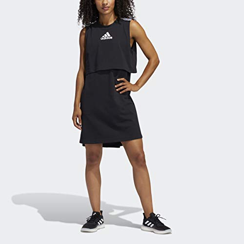 adidas Vestido W Game & Go para Mujer, Mujer, Vestido, GLC73, Negro, S