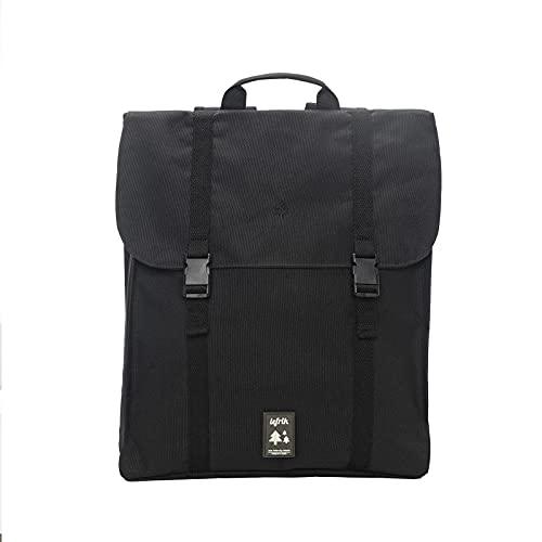 Lefrik - Mochila Handy Casual y Práctica - Tejido 100% Reciclado - Eco Friendly - Para trabajar o para viajar - 12 L - Color Black