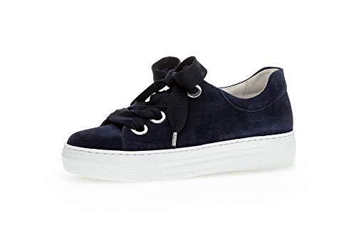 Gabor Damen Sneaker, Frauen Low-Top Sneaker,Comfort-Mehrweite,Optifit- Wechselfußbett, feminin elegant Women's Woman Freizeit,Marine,39 EU / 6 UK