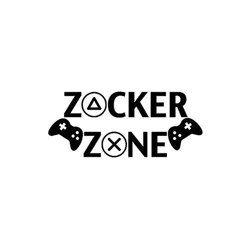 Englische Worte Zocker Zone Vinyl Wandtattoo Removable Peel and Stick-Raum-Aufkleber-Dekor für Hauptdekoration Schwarz