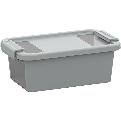KIS Aufbewahrungsbox Bi Box 3 Liter in grau-transparent, Plastik, 16x26.5x10 cm