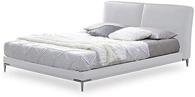 Paris Prix - Lit Adulte Design alejo 180x200cm Blanc