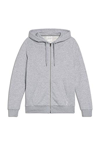 ARMEDANGELS JOAA - Herren Sweatjacke aus Bio-Baumwoll Mix M Grey Melange Sweatjacket Solid, Sweat Jacke Regular fit