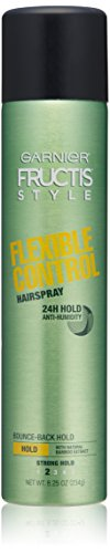 Garnier Fructis Style Flexible Control Anti-Humidity Hairspray, Strong Flexible Hold, 8.25 oz