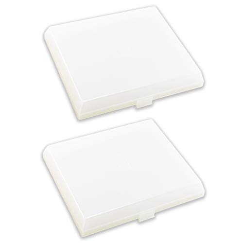 2-Pack AP5609551 The Exact Replacement Compatible with Nutone, Broan, Kenmore (S97011813) Bathroom Vent Fan Light Lens Cover with 8'' x 7'' – Made From Heavy Duty Plastic(Upgraded Version)