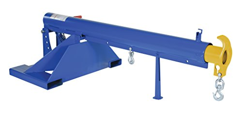 """Vestil LM-OBT-4-36 Orbit Telescoping Lift Boom, 4000 lb Capacity, 36"""" Fork Pocket Center, Overall LxWxH (in.) 44 x 86.625 x 27.6875, Overall Extended Length (in.) 146-5/8, Blue"""