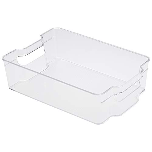 Amazon Basics - Recipienti in plastica per il frigo, grandi, set di 2