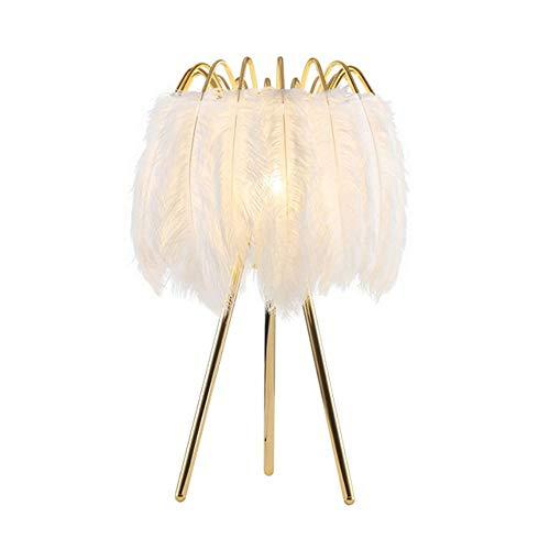 Lámpara de pie de plumas nórdicas lámpara de lectura de lujo con lámpara de pie regulable brillo protección de ojos lámparas de pie altas para sala de estar, dormitorio, mesita de noche