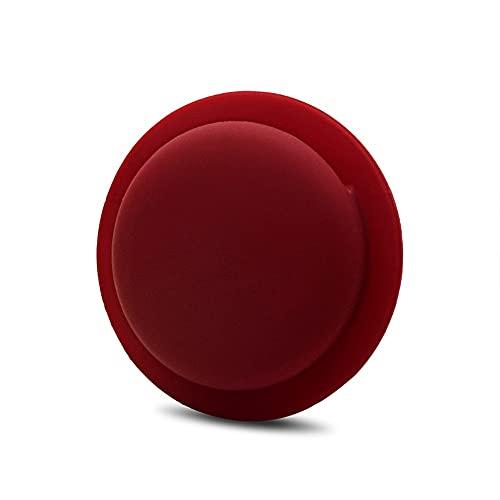CoverKingz Funda de silicona para Apple AirTags 2021 adhesivo – Carcasa autoadhesiva – Soporte adhesivo – Pegatina Airtag – Soporte de silicona para carcasa – Color vino