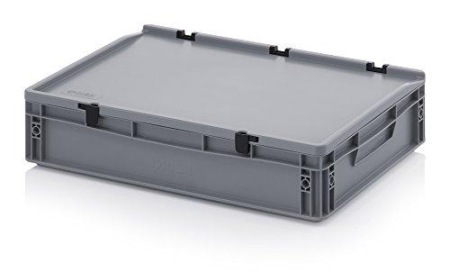Eurobehälter-Eurobox 60 x 40 x 13,5 cm mit Scharnierdeckel inkl. gratis Zollstock