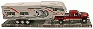 Die-Cast Pick Up Truck with 5th Wheel Camper, 1:32