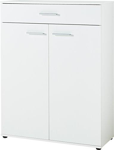 Germania 3675-84 Schuhschrank mit Platz für ca. 30 Paar Schuhe, in Weiß, 89 x 120 x 37 cm (BxHxT)