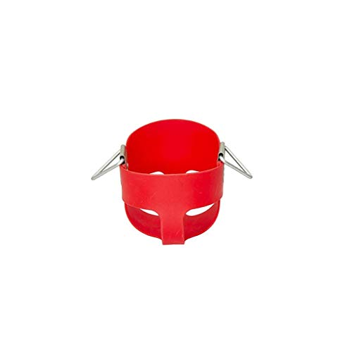 ZXL Siège de balançoire à Dossier Haut à Dossier Haut, Chaise de balançoire Robuste pour Tout-Petits avec chaînes enduites entièrement assemblée (Couleur: Rouge)