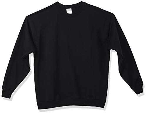 Hanes Men's Ecosmart Fleece Sweatshirt, Black, Medium