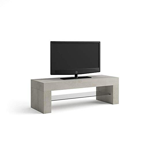 MOBILI FIVER, Evolution Mueble de TV, Madera de Roble, Color Cemento, 112 x 40 x 36 cm