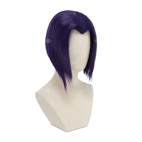 Pelucas de disfraces de Cosplay para mujeres, Halloween inspirado en cuervo Púrpura Peluca de Cosplay Frente No-Encaje Sintético Sintético Full Wig