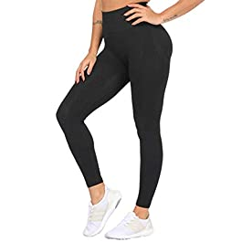 FITTOO Women's High Waist Sports Yoga Pants Seamless Push Up Gym Workout Fitness Leggings