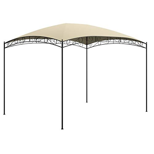Festnight Cenador de jardín (3 x 4 m) -Pérgolas Exterior para Fiestas de Protección UV - Tienda de Campaña para Exteriores, Boda, jardín, Fiesta, Camping, fácil de Instalar, Crema