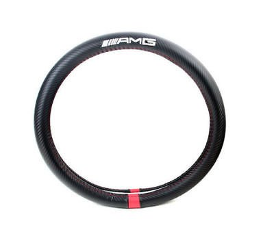Boobo AMG Carbon Fiber Sport Car Steering Wheel Cover Size M 38cm For Mercedes Benz Steering Wheel