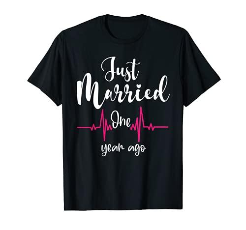 Aniversario de boda Hace un año, regalo de pareja Camiseta