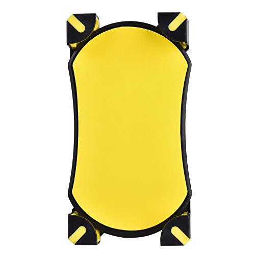 Soporte para GPS para Bicicleta, Soporte para teléfono de Bicicleta Resistente a los arañazos Instalación sin Herramientas A Prueba de Golpes con 4 Esquinas de Soporte para(Yellow)
