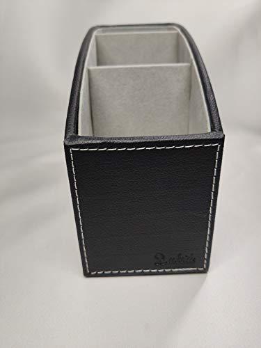 Home Gadgets Porta Mandos Piel Sintetica Negro y Gris 19 cm