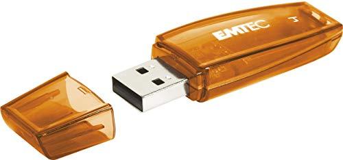 Emtec ECMMD4GC410 - Clé USB - 2.0 - Série Runners - C410 Color Mix - 4 Go - Transparente orange avec capuchon