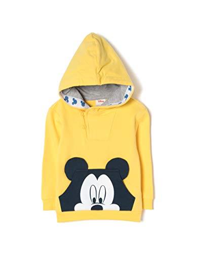 Sudadera amarilla para niños con capucha