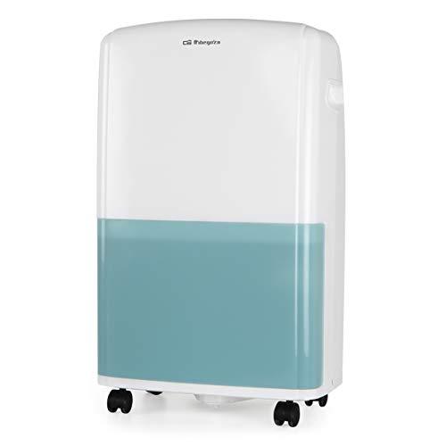 Orbegozo DH 1650 - Deshumidificador con capacidad deshumidificación 16L/día, refrigerante R290, depósito 3,6 L, área de aplicación 100 m2, sistema anti-congelación, 520 W