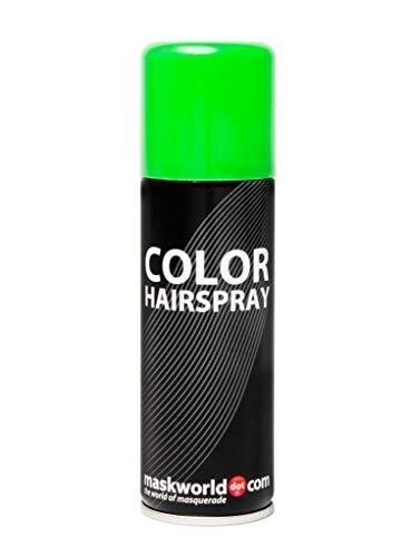 Maskworld Color Haarspray für farbig buntes Haar - Grün - Color Farbspray zum Verkleiden & Schminken für Karneval, Fasching, Halloween & Motto-Party