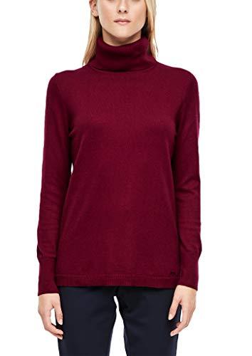 s.Oliver Damen 14.910.61.6233 Pullover, Rot (Bordeaux 4906), (Herstellergröße: 38)