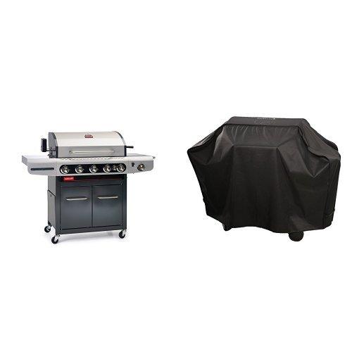 barbecook Gasgrill, Siesta 612, schwarz-grau, 117 x 77 x 52,5 cm, 2239261200 + Abdeckhaube