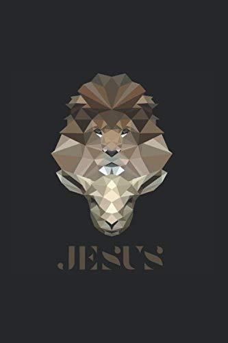 Jesus: 6x9 Zoll - circa A5 Notizbuch LINIERT | 120 Seiten | Jesus Lamm Gottes und Löwe von Juda | Theologiestudium | Christentum Notizbuch | Christen Notizbuch | Bibelstunde | Geschenkidee